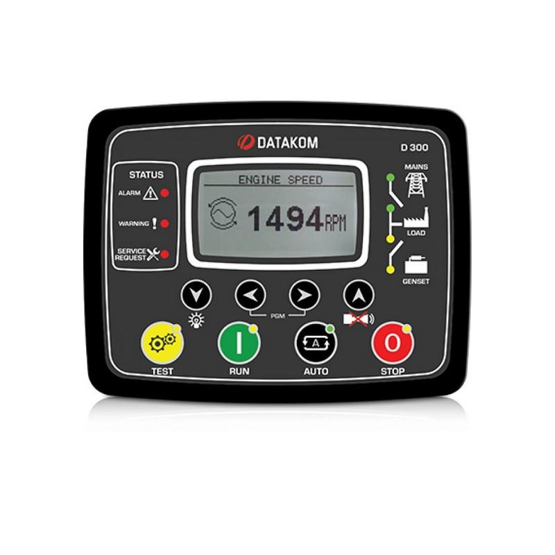 Контроллер для генератора Datakom D-300-P (MPU,J1939, GSM с зарядным устройством)