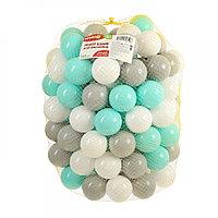 Шарики для сухого бассейна с рисунком, диаметр 7,5 см, 150 штук, цвет бирюзовый, серый , белый