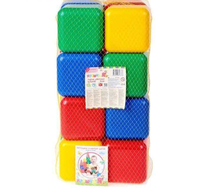 Набор цветных кубиков, 16 штук 12 × 12 см