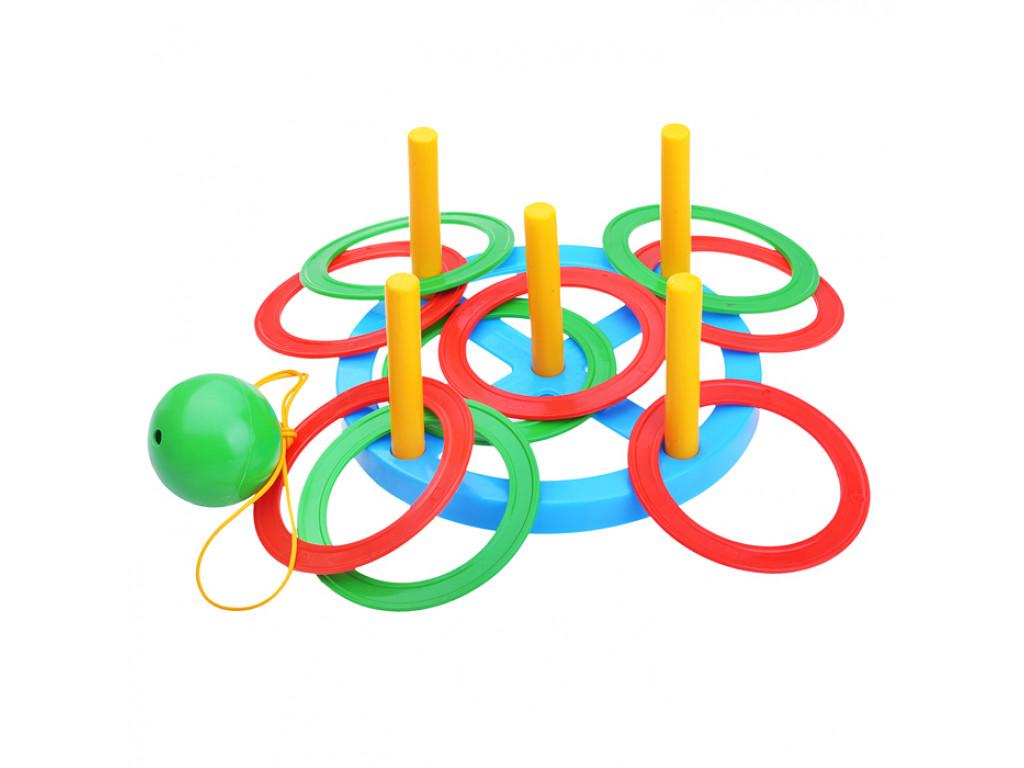 "Игра 2 в 1 ""Кольцеброс"" и ""Поймай шарик"""