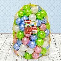 Шарики для сухого бассейна «Перламутровые», диаметр 7,5 см, 150 штук, цвет розовый, голубой, белый