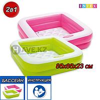 Детский надувной бассейн Intex 57100, размер 85x85x23 см, фото 1
