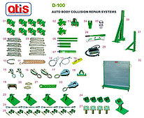 Стенд с силовыми башнями, гидравликой и аксессуарами ATIS D100