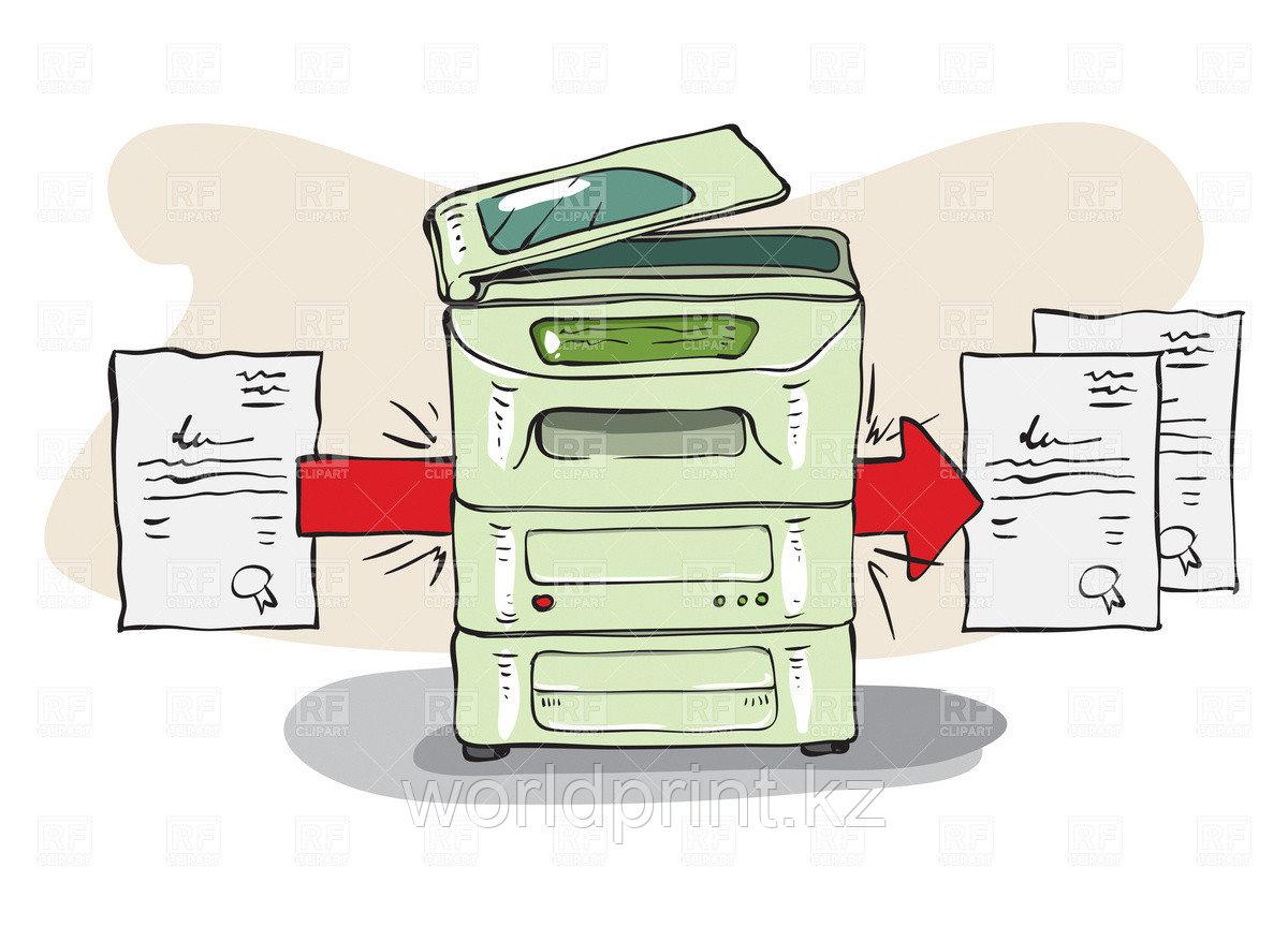 Услуги ксерокопирования и сканирования Астана