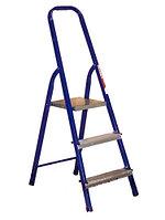 Стальная лестница-стремянка 3-и ступ Н=1,3/2,7 м (М8403)