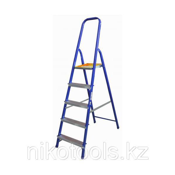 Стальная лестница-стремянка 5-и ступ Н=1,75/3,1 м (М8405)