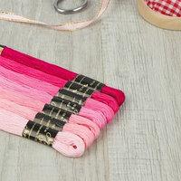 Набор ниток мулине 'Цветик-Семицветик', 10 ± 1 м, 7 шт, цвет розовый спектр