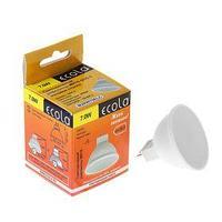 Лампа светодиодная Ecola, GU5.3, 7 Вт, 2800 K, теплый белый, матовое стекло