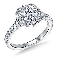 Золотое кольцо c центральным бриллиантом от 0,45Ct, фото 1