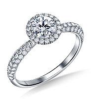 Золотое кольцо c центральным бриллиантом от 0,23Ct, фото 1