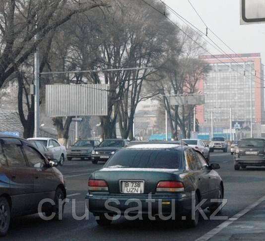 Южнее пр. Абая, восточнее ул. Жандосова