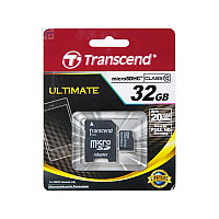 Memory Card micro SD 32Gb + adapter Class10 Transcend
