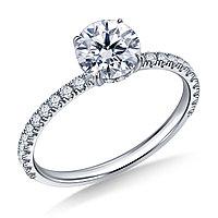 Золотое кольцо c центральным бриллиантом от 0,70Ct, фото 1