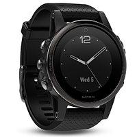 Часы с GPS навигатором Garmin Fenix 5S Sapphire - Slate grey with black band (010-01685-11)