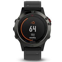 Часы с GPS навигатором Garmin Fenix 5 Sapphire - Black with black band (010-01688-11)