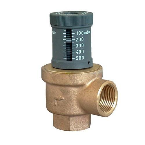 Клапан перепускной Oventrop - Ду32 (PN10, 120°C, настройка 50-500 мбар, бронза/латунь)