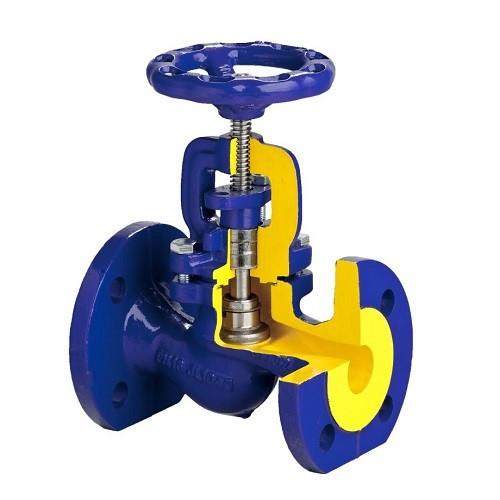 Клапан запорный BROEN V215 - Ду25 (ф/ф, PN16, Tmax-300°С, чугун, графитовое уплотнение)