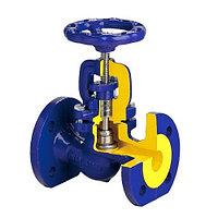 Клапан запорный BROEN V215 - Ду100 (ф/ф, PN16, Tmax-300°С, чугун, графитовое уплотнение)