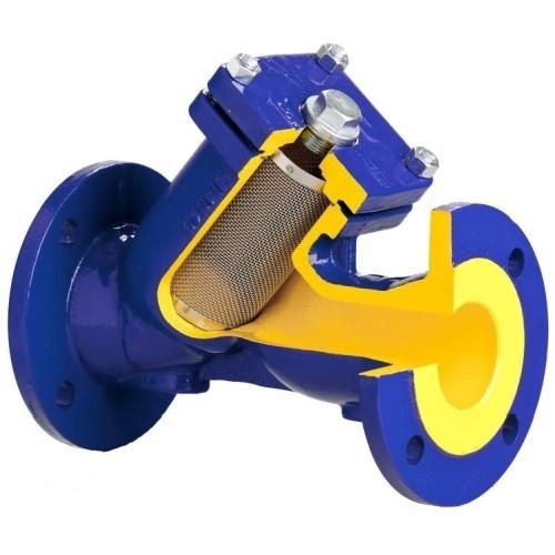 Фильтр грубой очистки BROEN V821M - Ду40 (Фланец/Фланец, PN16, Tmax 300°C, с магнитной вставкой)