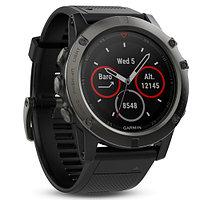 Часы с GPS навигатором Garmin Fenix 5X Sapphire Slate grey with black band (010-01733-01)