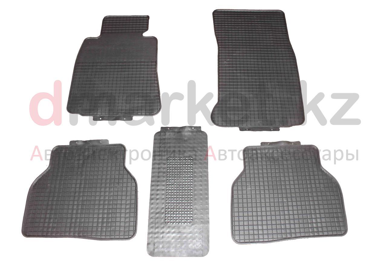 Коврики полики BMW E39, черные, резиновые, 5 предметов