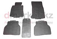Коврики полики BMW E39, черные, резиновые, 5 предметов, фото 1