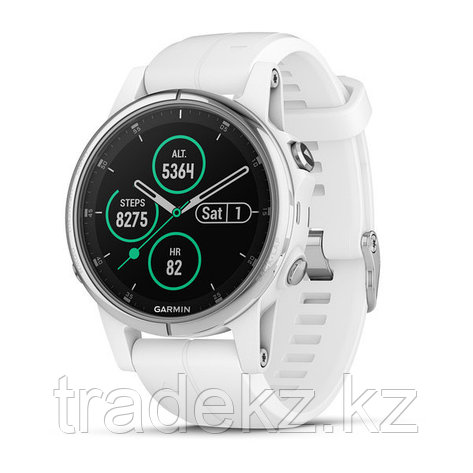 Часы с GPS навигатором Garmin Fenix 5S Plus Sapphire белые с белым ремешком (010-01987-01), фото 2