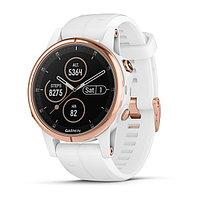 Часы с GPS навигатором Garmin Fenix 5S Plus Sapphire белые, розовый безель (010-01987-07)