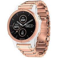 Часы с GPS Garmin Fenix 5S Plus Sapphire белые, розовый безель, браслет розовое золото (010-01987-11)