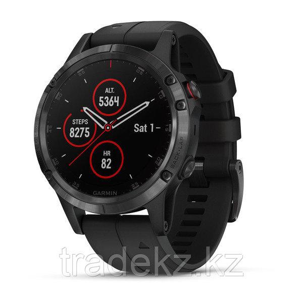 Часы с GPS навигатором Garmin Fenix 5 Plus Sapphire черные с черным ремешком (010-01988-01)