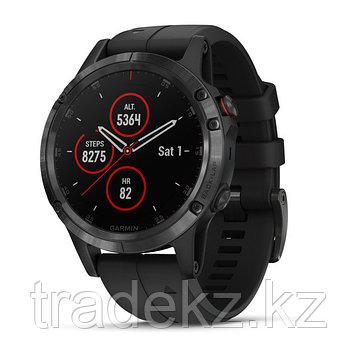 Часы с GPS навигатором Garmin Fenix 5 Plus Sapphire черные с черным ремешком (010-01988-01), фото 2