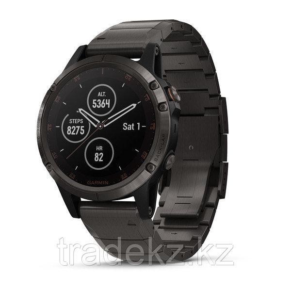 Часы с GPS навигатором Garmin Fenix 5 Plus Sapphire черные титан (010-01988-03)