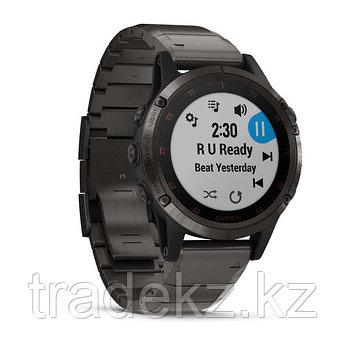 Часы с GPS навигатором Garmin Fenix 5 Plus Sapphire черные титан (010-01988-03), фото 2