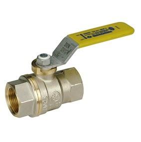 """Кран шаровой полнопроходной Giacomini R910 - 3"""" (ВР/ВР, PN5, ручка-рычаг желтая, для газа)"""