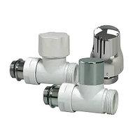 Термостатический комплект прямой LUXOR KT 258/A, белый-хром