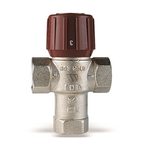 """Клапан термостатический смесительный WATTS AQUAMIX 61C - 1/2"""" (ВР, регулировка 32-50°C)"""