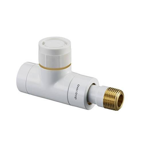 """Вентиль термостатический прямой Oventrop E - 1/2"""" (ВР/НР, PN10, Tmax 120°C, цвет белый)"""