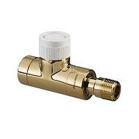 """Вентиль термостатический прямой Oventrop E - 1/2"""" (ВР/НР, PN10, Tmax 120°C, цвет позолоченный)"""