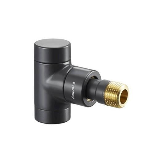 Вентиль на обратную подводку угловой Oventrop Combi E - Ду15 (цвет антрацит)