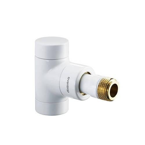Вентиль на обратную подводку угловой Oventrop Combi E - Ду15 (цвет белый)