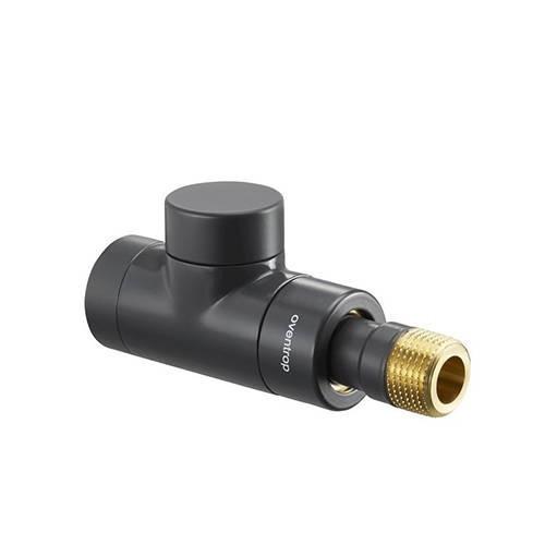 Вентиль на обратную подводку проходной Oventrop Combi E - Ду15 (цвет антрацит)