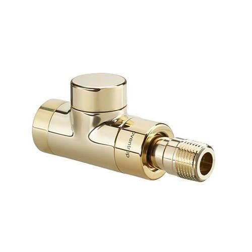 Вентиль на обратную подводку проходной Oventrop Combi E - Ду15 (цвет позолоченный)