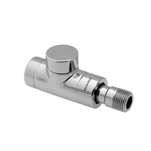 Вентиль на обратную подводку проходной Oventrop Combi E - Ду15 (цвет хромированный)