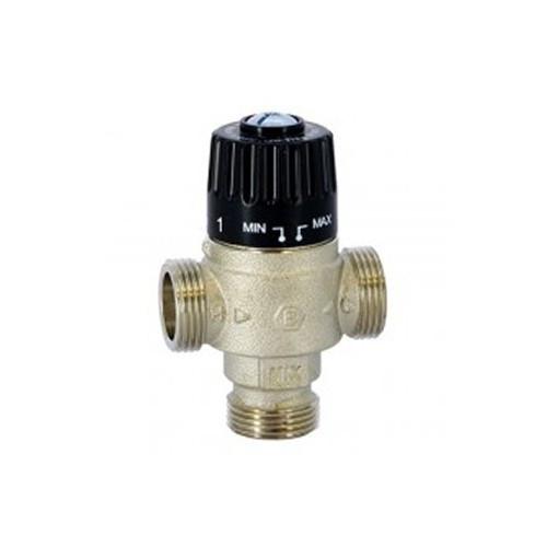 """Клапан термостатический смесительный STOUT - 1"""" НР (30-65°С,kvs 2,3 м3/ч, центральное смешивание)"""