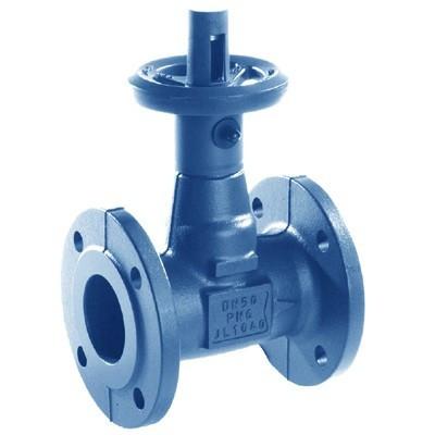 Клапан запорный KSB BOA-Compact - Ду100 (ф/ф, PN16, Tmax 120°С, чугун, сальниковое уплотнение)