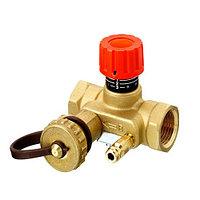 """Клапан балансировочный Danfoss MNT - 1""""1/4 (ВР/ВР, PN20, Tmax 120°С, c ниппелями и краном)"""