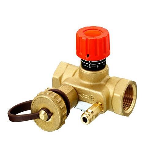 """Клапан балансировочный Danfoss MNT - 2"""" (ВР/ВР, PN20, Tmax 120°С, c ниппелями и краном)"""