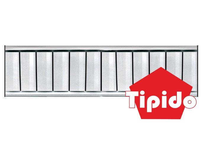 Алюминиевый радиатор отопления Tipido-200 - фото 1