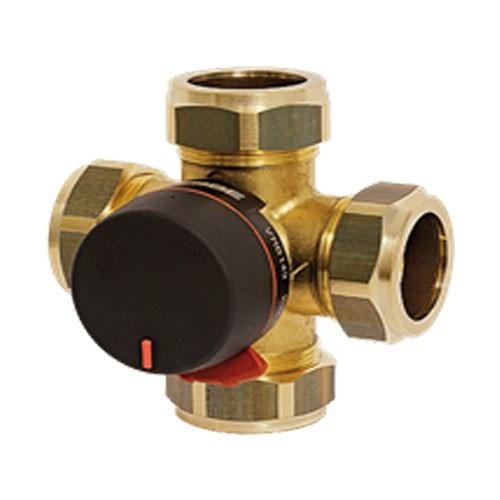 Клапан смесительный четырехходовой ESBE VRB143 - 22 мм (коспрессионный, PN10, Tmax 110°C, KVS 4,0)
