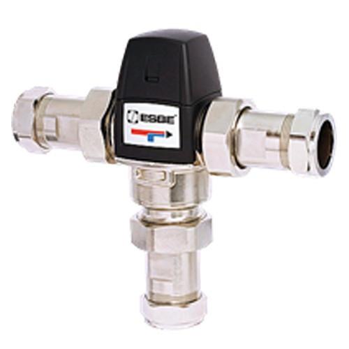 """Клапан термостатический смесительный ESBE VTA533 - CPF28мм (компрессионное подключение, с переходником НР 1"""", Tmax. 95°C, точка переключения 45-65°C,"""